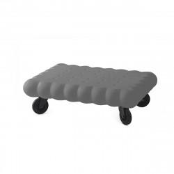 Table basse biscuit Tea Time, Slide Design gris Laqué