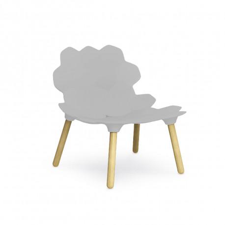 Chaise lounge design Tarta, Slide Design blanc laqué mat