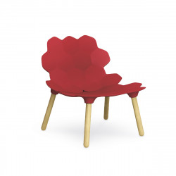 Chaise lounge design Tarta, Slide Design rouge laqué mat