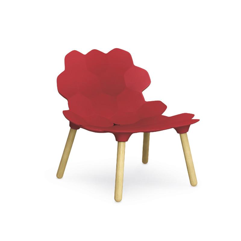Chaise Design Tarta Slide Rouge