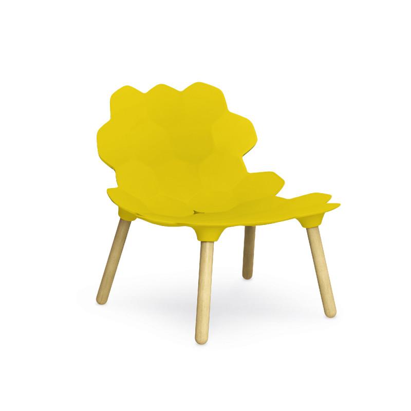 Chaise design tarta slide design jaune cerise sur la deco for Chaise jaune design