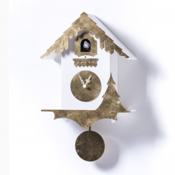 Horloge Chalet Leaf, Diamantini & Domeniconi or