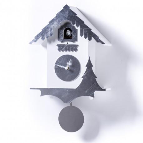Horloge Chalet Leaf, Diamantini & Domeniconi argent