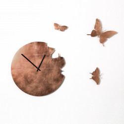 Horloge Butterfly Leaf, Diamantini & Domeniconi cuivre