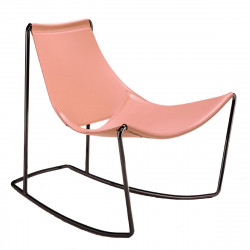 Rocking Chair Apelle DN, Midj rose pamplemousse