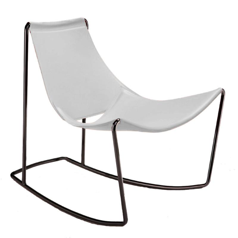 rocking chair apelle dn midj blanc cerise sur la deco. Black Bedroom Furniture Sets. Home Design Ideas