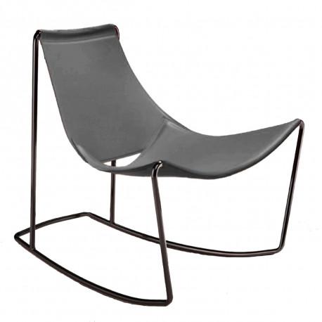 Rocking Chair Apelle DN, Midj gris foncé