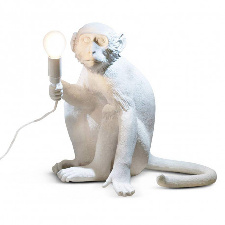 Lampe à poser Monkey Sitting, Seletti blanc