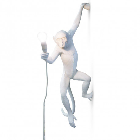 Applique Monkey Hanging, Seletti blanc