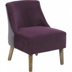 Fauteuil Crawford, Hanjel violet/gris