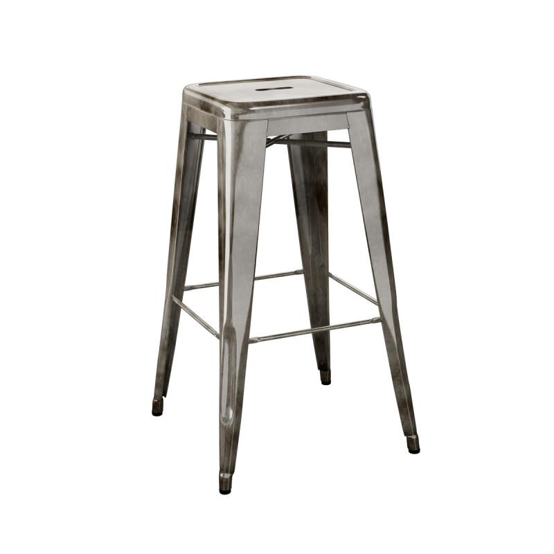 tabouret h75 verni tolix gris lasure cerise sur la deco. Black Bedroom Furniture Sets. Home Design Ideas