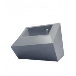 Pot Bas design Faz, Vondom gris acier L double paroi, avec réserve d\'eau