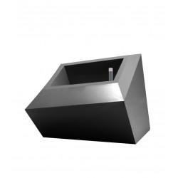 Pot Bas design Faz, Vondom gris anthracite L double paroi, avec réserve d\'eau