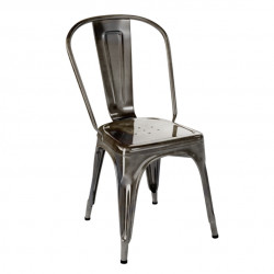 Chaise A Inox Verni, Tolix janvier 1