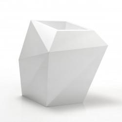Pot design Faz, modèle Medium, 66x55xH70 cm, Vondom, blanc