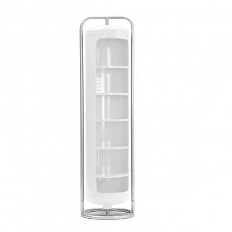 Vestiaire Mono Cylindre Brillant, Tolix blanc