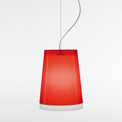 Suspension L001S/AA, Pedrali rouge transparent / blanc