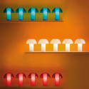 Lampe de table Colette, Pedrali rouge transparent Taille S