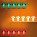 Lampe de table Colette, Pedrali bleu transparent Taille S