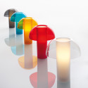 Lampe de table Colette, Pedrali rouge transparent Taille L