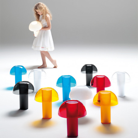 Lampe de table Colette, Pedrali transparent Taille L