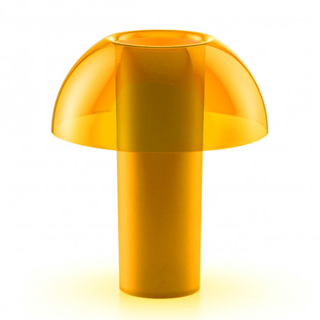 Lampe de table Colette, Pedrali jaune transparent Taille L