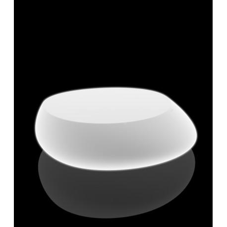 Table Basse Lumineuse Stone Vondom Blanc Led Rgb A Batterie