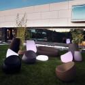 Table basse Lumineuse Stone, Vondom blanc LED RGB à batterie