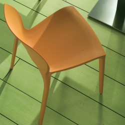 Chaise design Aqua orange