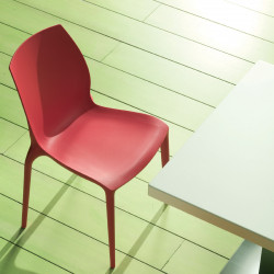Chaise design Aqua rouge