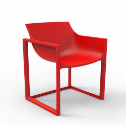 Lot de 2 chaises Wall Street, Vondom rouge