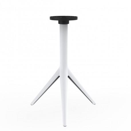 Pied de table Mari-Sol, H 73 cm pour petits plateaux, Vondom blanc Fixe, H73 cm