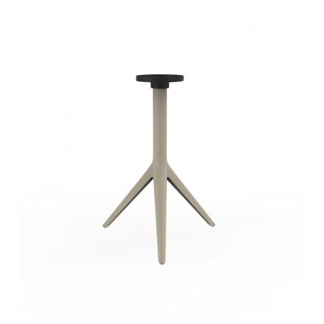 Pied de table Mari-Sol, H 73 cm pour petits plateaux, Vondom ecru Fixe, H73 cm