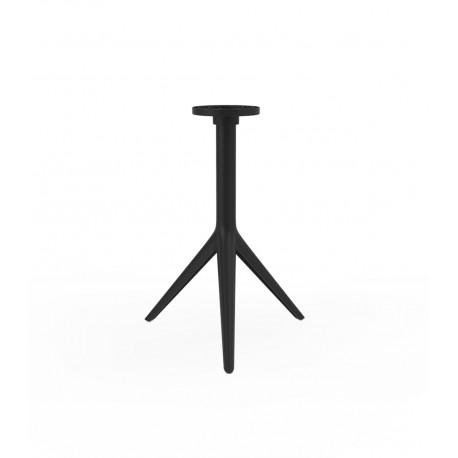 Pied de table Mari-Sol, H 73 cm pour petits plateaux, Vondom noir Basculant, H73 cm