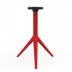 Pied de table Mari-Sol, H 73 cm pour petits plateaux, Vondom rouge Basculant, H73 cm