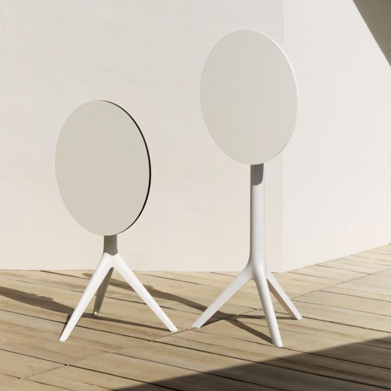 pied de mange debout mari sol h 105 cm pour petits plateaux vondom blanc fixe h73 cm cerise. Black Bedroom Furniture Sets. Home Design Ideas