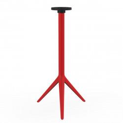 Pied de table Mari-Sol, H 105 cm pour petits plateaux, Vondom rouge Basculant, H73 cm