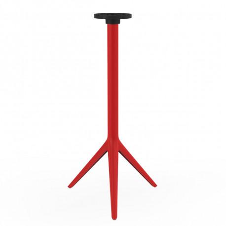 Pied de mange debout Mari-Sol, H 105 cm pour petits plateaux, Vondom rouge Basculant, H73 cm