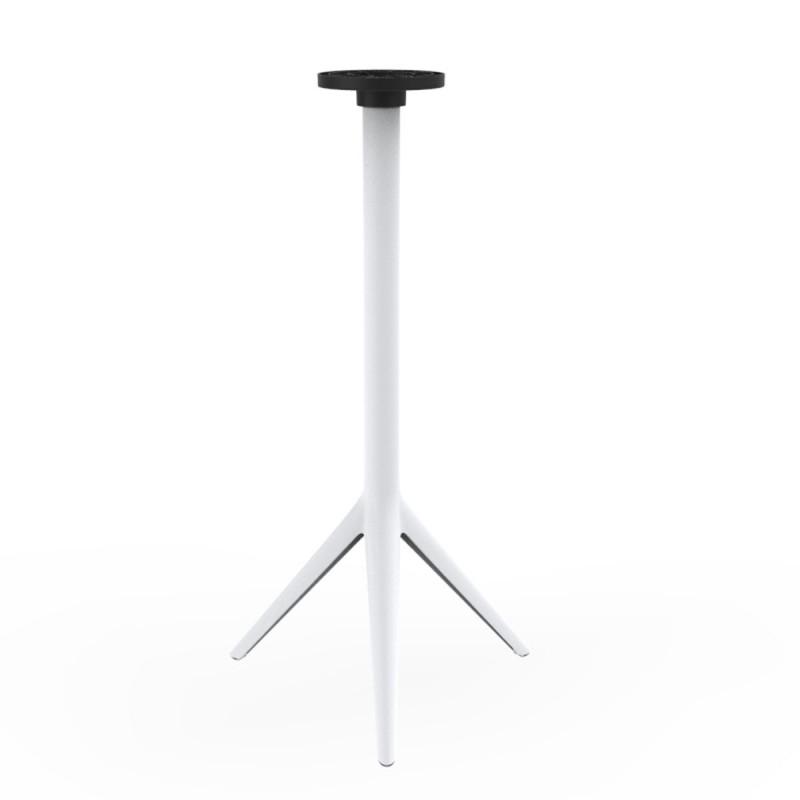 pied de mange debout mari sol h 105 cm pour petits plateaux vondom blanc basculant h73 cm. Black Bedroom Furniture Sets. Home Design Ideas