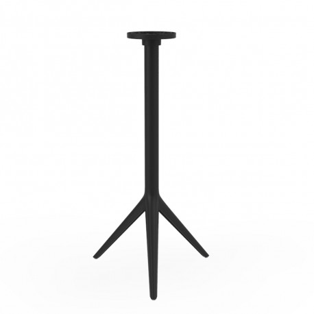 Pied de mange debout Mari-Sol, H 105 cm pour petits plateaux, Vondom noir Basculant, H73 cm