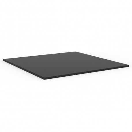 Plateau de table carré Mari-Sol ,Vondom noir,bordure noir 79x79 cm