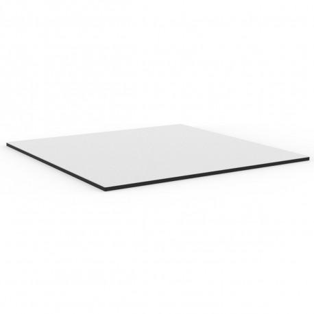 Plateau de table carré Mari-Sol ,Vondom blanc,bordure noir 79x79 cm