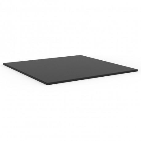 Plateau de table carré Mari-Sol ,Vondom noir,bordure noir 89x89 cm