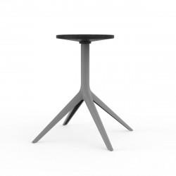 Pied de table Mari-Sol, H 73 cm pour grands plateaux, Vondom acier Fixe, H73 cm