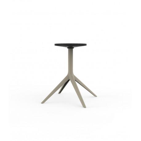 Pied de table Mari-Sol, Vondom, H 73 cm pour grands plateaux, écru Fixe, H73 cm