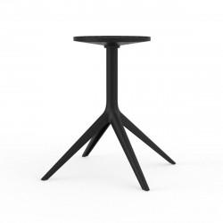 Pied de table Mari-Sol, H 73 cm pour grands plateaux, Vondom noir Fixe, H73 cm
