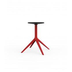 Pied de table Mari-Sol, H 73 cm pour grands plateaux, Vondom rouge Fixe, H73 cm