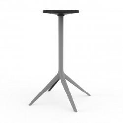 Pied de table Mari-Sol, H105 cm pour grands plateaux, Vondom acier Fixe, H73 cm