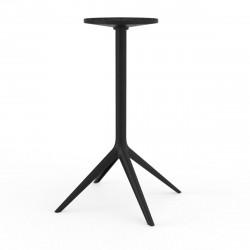 Pied de table Mari-Sol, H105 cm pour grands plateaux, Vondom noir Fixe, H73 cm