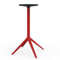 Pied de table Mari-Sol, H105 cm pour grands plateaux, Vondom rouge Fixe, H73 cm